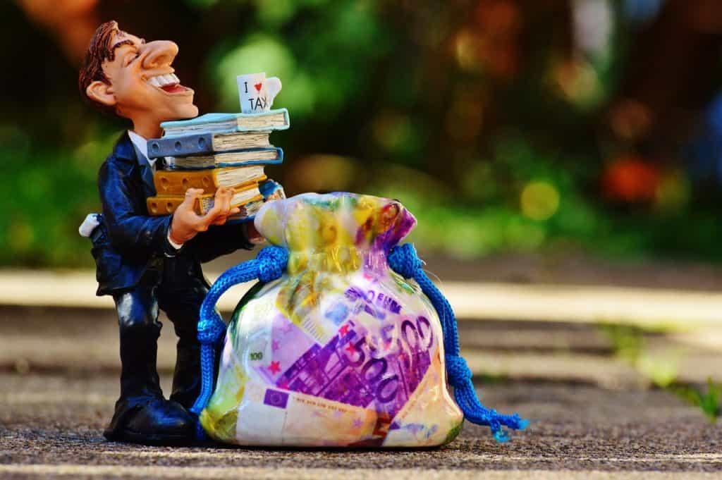 משלם מיסים עם ספרים ביד